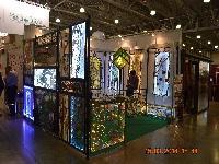 Мастерская «Мир витража» представила свои работы на выставке «Деревянный дом»