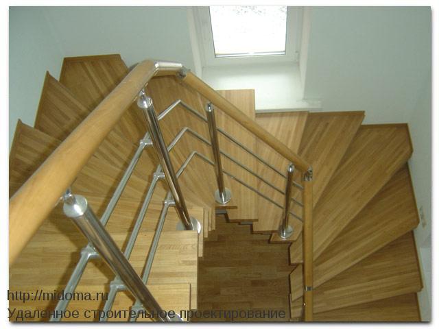Чертежи деревянных лестниц