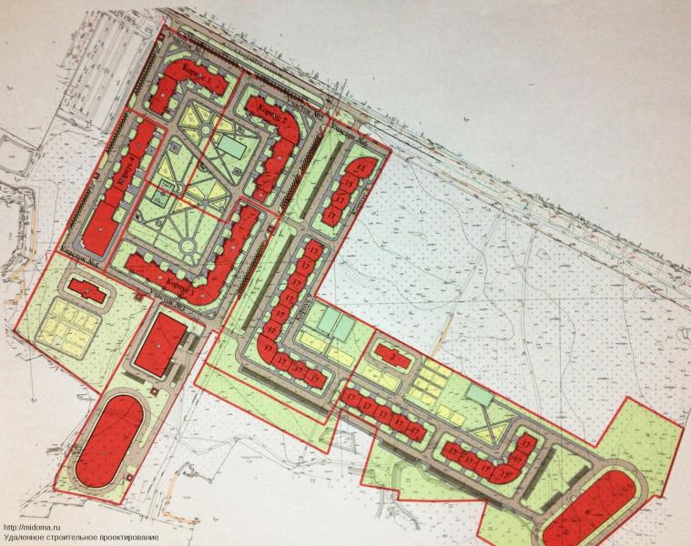 """Выполню раздел  """"Схема планировочной организации земельного участка """" (Генплан) для любой стадии как эскиз, так и П, Р..."""