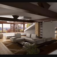 Интерьер жилого дома. Мансарда