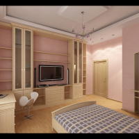 Интерьер жилого дома. Спальня девочки