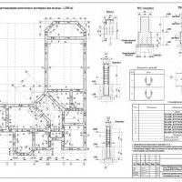 Расчёт фундаментов любого типа (ленточные монолитные, сборные, свайные, плита)