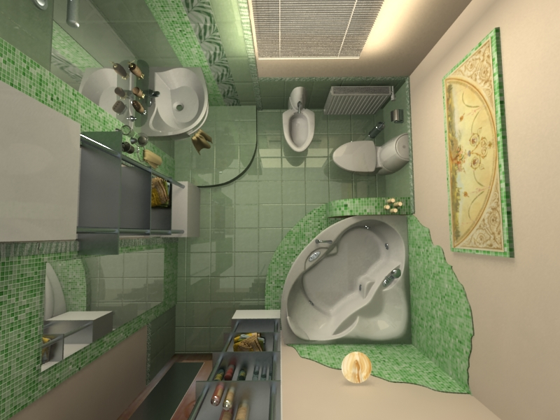 Частный интерьер, ванная комната