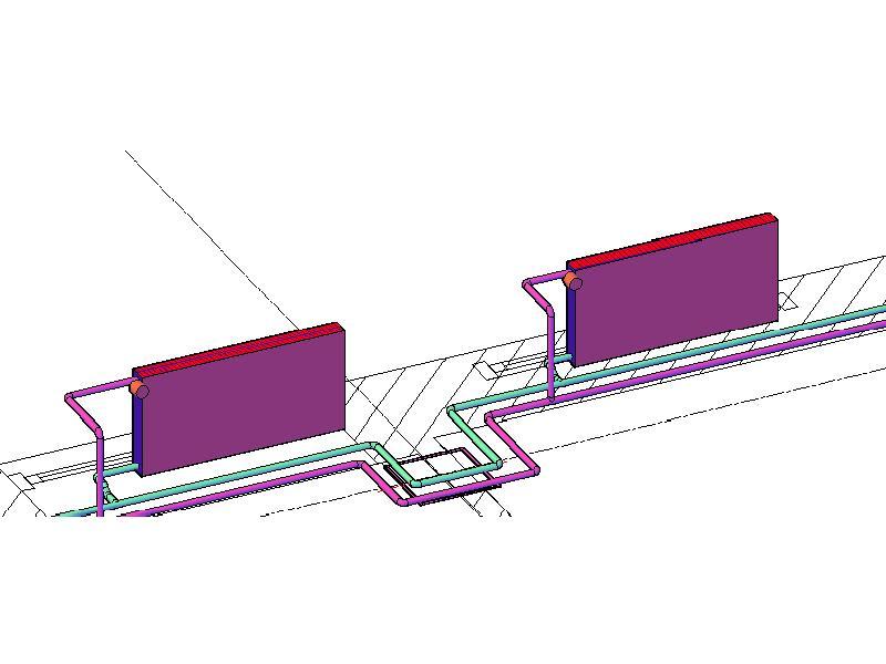 3D схема отопления бизнес-