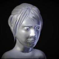 3Д модель девушки. Программа Blender 3D. С использованием скульптинга и технологии ретопология.