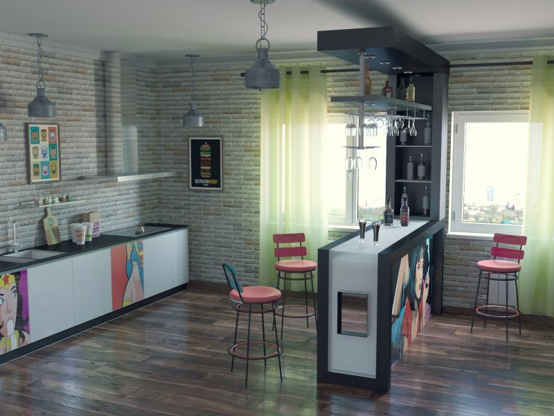 Pop art kitchen