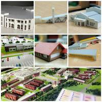 Пример макетов зданий, сооружений ( сделанных на основе 3d моделирования)