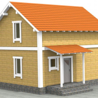 Каркасно-панельный дом (76м2)