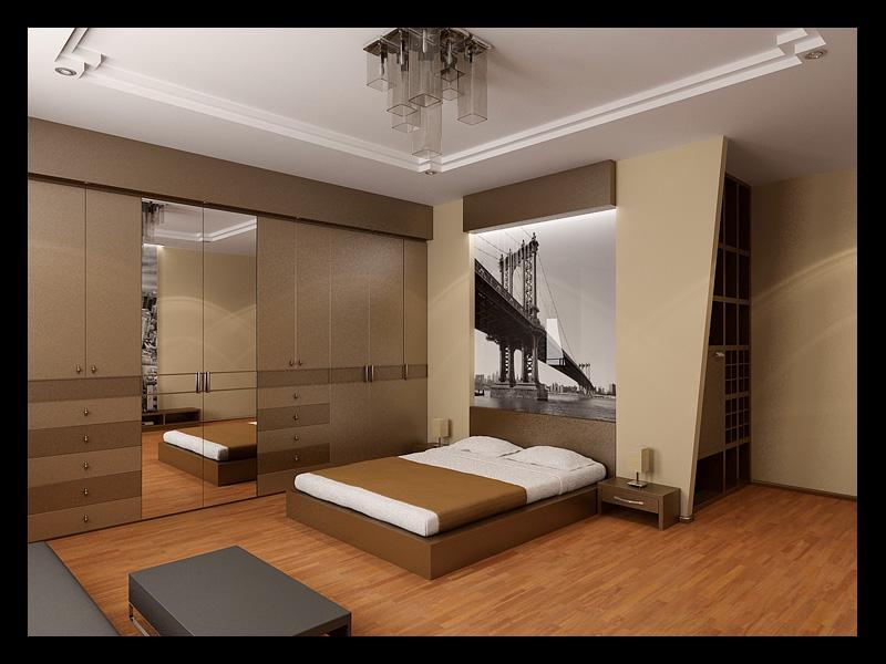 Интерьер жилого дома спальня
