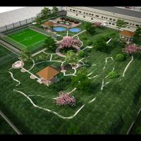 Визуализация завода (Ландшафтный дизайн, вид-2)