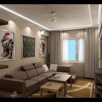 Интерьер 2-х комнатной квартиры с перепланировкой (гостевая)
