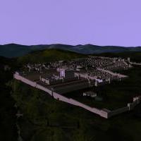 Анимированная 3d модель Иерусалима 1-2 в.в. н.э.
