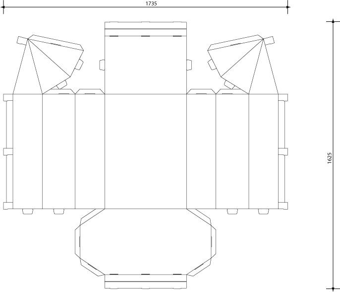 Макет дома из бумаги своими руками схемы развертка для 73
