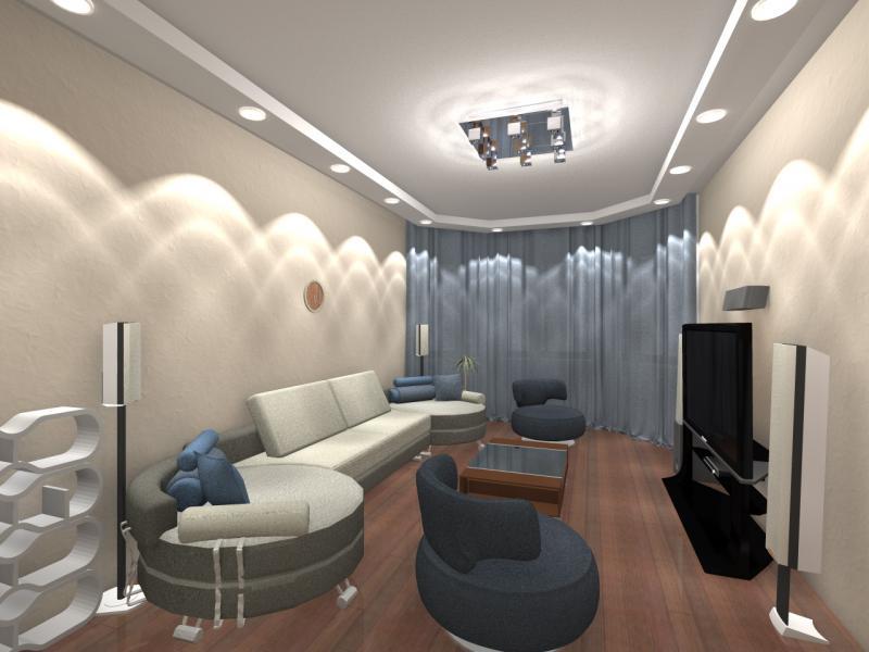 Дизайн большой комнаты
